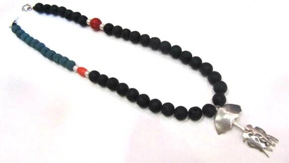 cadeau de corail perle collier santorin volcanique lave rouge. Black Bedroom Furniture Sets. Home Design Ideas