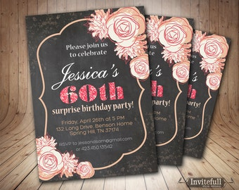 40th birthday invitations – Etsy