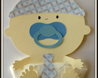 Baby Shower-Baby Shower Napkins-Baby Boy-Baby Shower Favor-Baby Shower Decoration-Baby Boy Shower-Little Man Shower Napkin-Little Man Shower