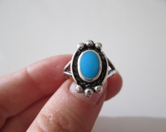 Vintage Turquoise sterling silver Ring size 7