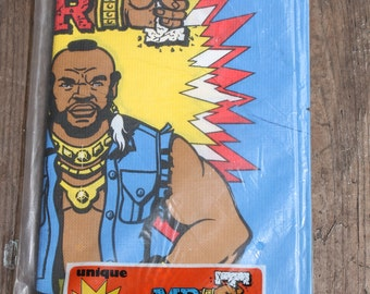 Vintage 1983 Mr. T Party Table Cover - Sealed Tablecloth - Unique Industries - A Mr. Tea Party - I Pity the Fool