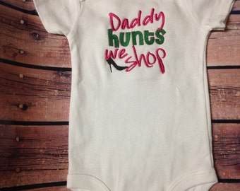 Embroidered Baby Bodysuit Onezie - Daddy Hunts We Shop - Baby Girl One Piece Bodysuit