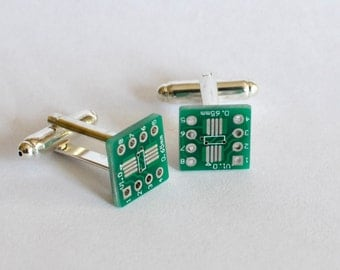 Printed Circuit Board Cuff Links - PCB  cufflinks - Geeky Cuff Links for the Super Geek!