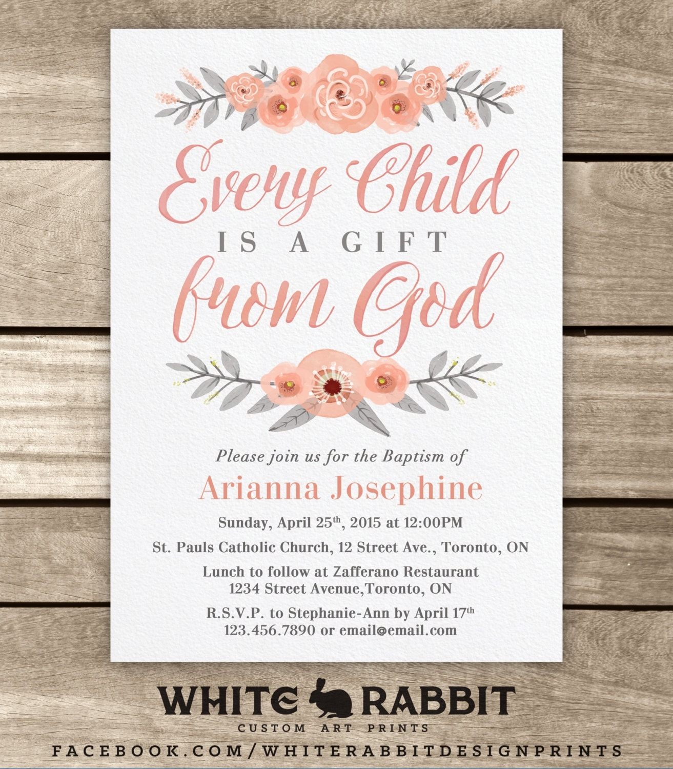Baptism Invitation Baptism Invite Baptism Boy Baptism Girl