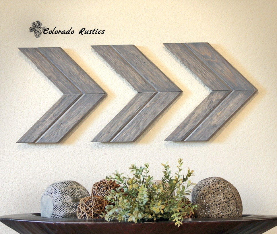 Arrow wall art chevron arrow wall d cor rustic by Images of wall decoration