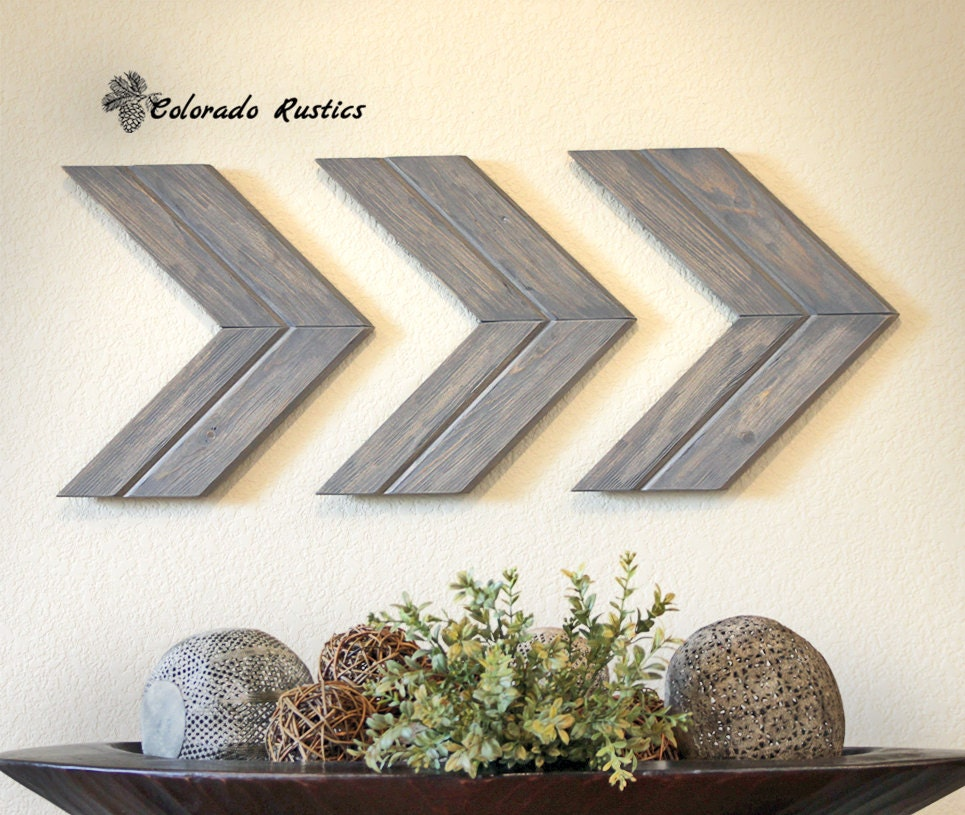 Arrow wall art chevron arrow wall d cor rustic by for Wall decoration items