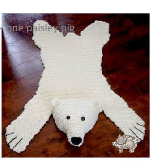 Polar Bear Rug Knitting Pattern : Polar bear skein rug with stuffed or flat head