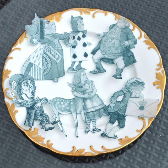 Edible Cake Decorations Alice In Wonderland : Edible Alice in Wonderland Classicx6 XLarge Figures Set B
