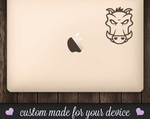 Grunt JS Macbook Decal - Developer Swagger.  Customize your macbook, with this custom Grunt JS boar decal. Javascript