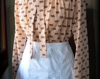 1960s Vintage Tie Bow Collar Secretary Blouse Shirt