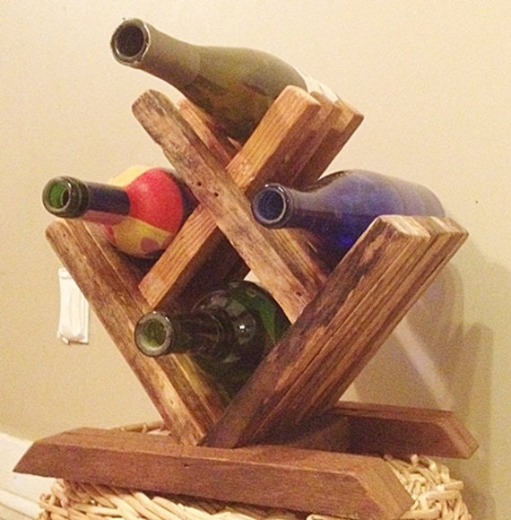 Wood wine rack tabletop small by
