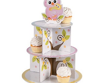 Owl Baby Shower Cupcake Holder (Each)