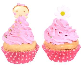 12/Sweet Baby Girl and Daisy Cupcake Picks