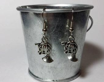 French Horn Earrings