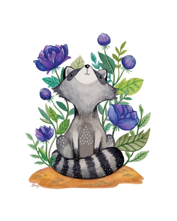 Roxie the Raccoon 8x10 Print