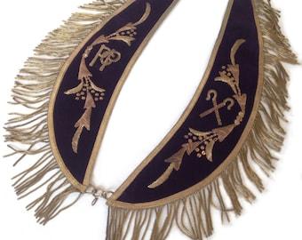 "Odd Fellows ""Masonic"" Collar with Bullion Thread"