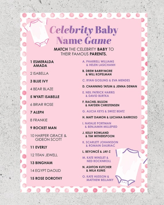 Baby Shower Printable Game Ideas – Printabell • Create