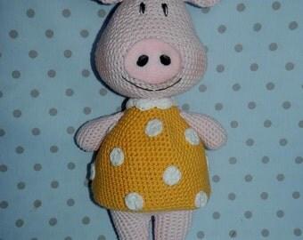 Rosa -crochet  piggy - PDF pattern