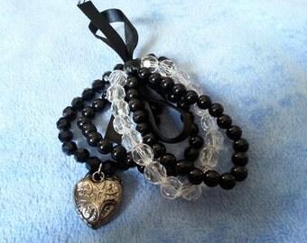 CLEARANCE: Set of 4 stretch bracelets by SerenitybyGJ