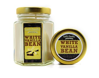 Vanilla Bean Scented Soy Candle | Handmade Scented Candle -- 4oz
