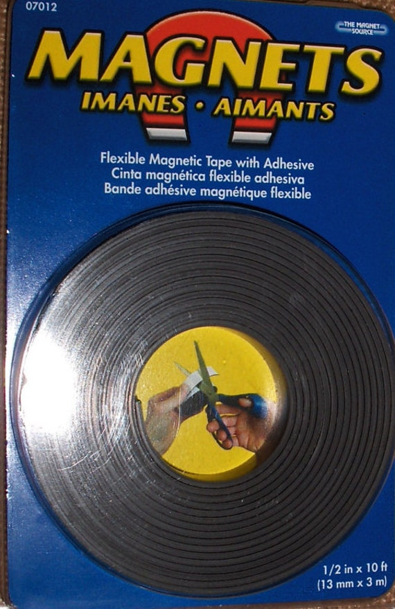 Magnets Flexible Magnetic Tape 07012 One Half Inch X 10ft
