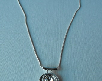 Swarovski and Sterling Silver Necklace  - Minimalist (BD-866)
