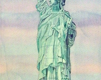 Statue of Liberty watercolor print. New York painting. New York wall art. New York picture. NY watercolor. Watercolor art. NYC painting.