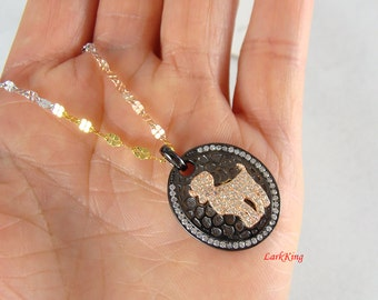 Sterling silver aries necklace, ram necklace, zodiac necklace, star sign necklace, horoscope necklace, white gold rose gold filled, BN29