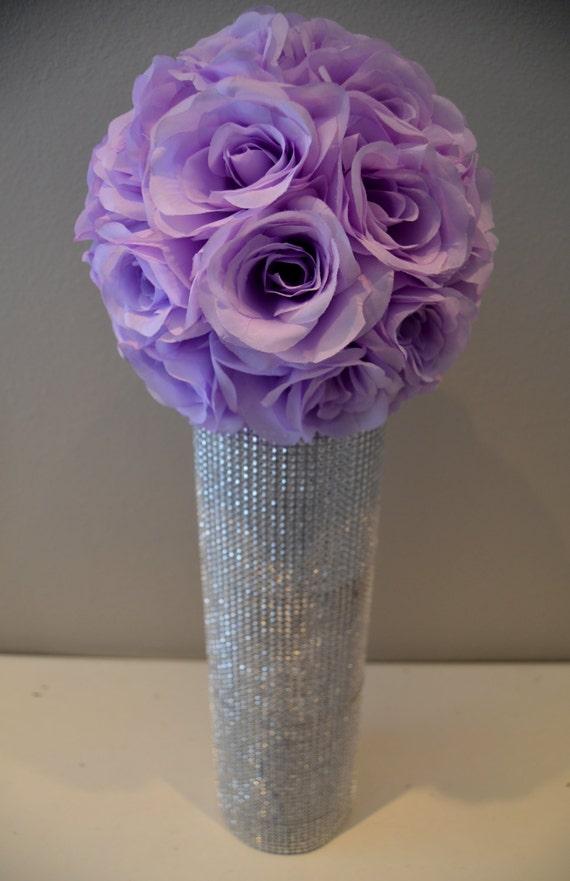 Premium soft silk LAVENDER flower ball WEDDING by KimeeKouture