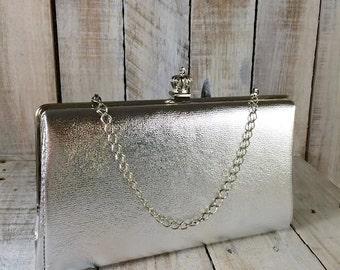 Wedding Clutch Bags - Wedding Bag - Silver Evening Clutch Bags - Wedding Purse - Silver Evening Bags - Wedding Handbag - Maid of Honor Gift