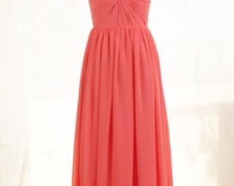 Bridesmaid Dress Long Bridesmaid Dress Cap Sleeve Open Back Long Convertible Chiffon Dress