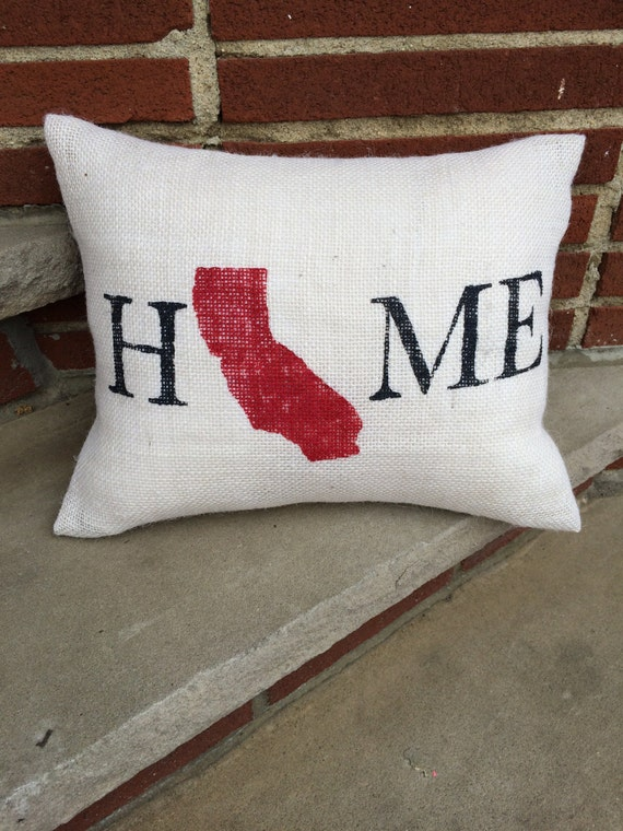 Custom State Pillow,Home PIllow,Burlap Pillow,Accent Pillow,State Pillow,Home Decor,Valentines Gift, Hostess Gift, State Pillow, State Pride