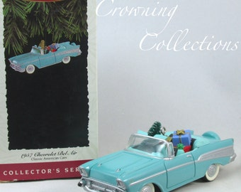 1994 Hallmark 1957 Chevrolet Bel Air Ornament Classic American Cars Keepsake #4 in Series Chevy