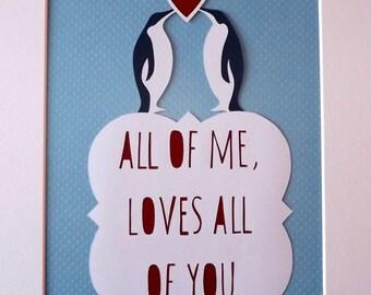 Penguin Love - Papercut