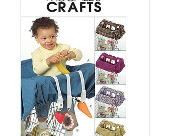 Clearance!!!  OUT OF PRINT!! McCall's Crafts M5124 Baby grocery cart liner and toys.
