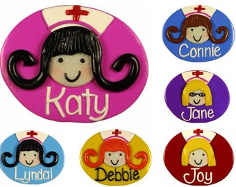 Nurses Face Name Badge (Personalized - Made to Order)