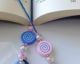 Bookmark with butterfly and flower