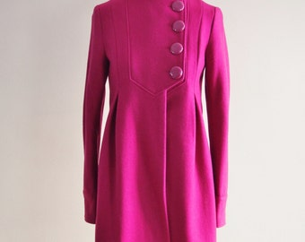 REDUCED - Vintage Pink Coat with Pink Buttons