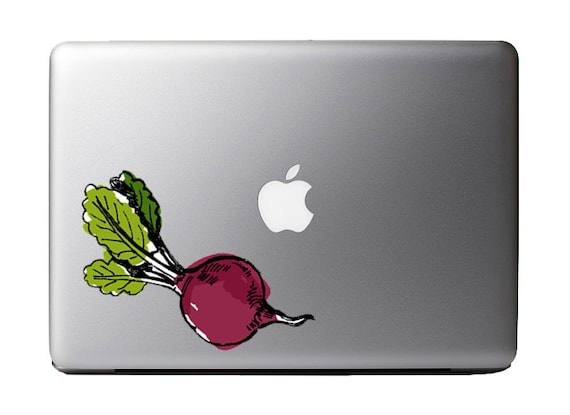 Watercolor Beet Vegan Full Color - Vinyl Decal Etsy:MilkMugDesigns