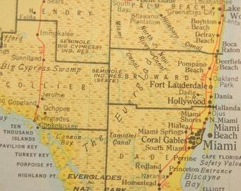 1959 Florida & Maryland/Delaware Vintage Map