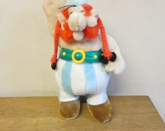 Vintage Obelix plush toy, rare