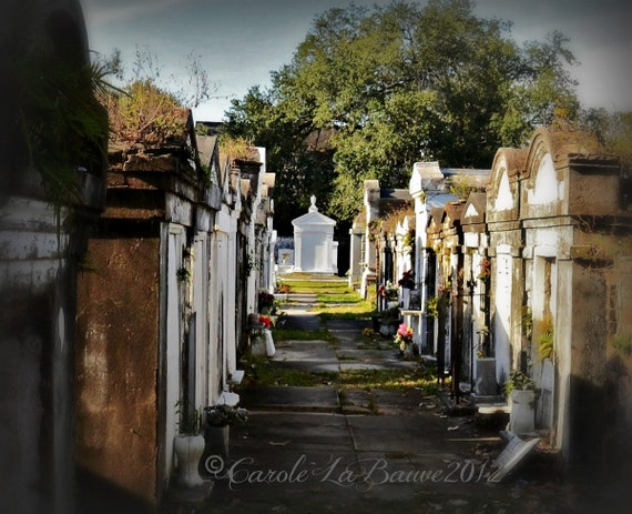 NEW ORLEANS CEMETERY Photography ~ Lafayette Cemetery#1 ~ Garden District ~ New Orleans, Louisiana
