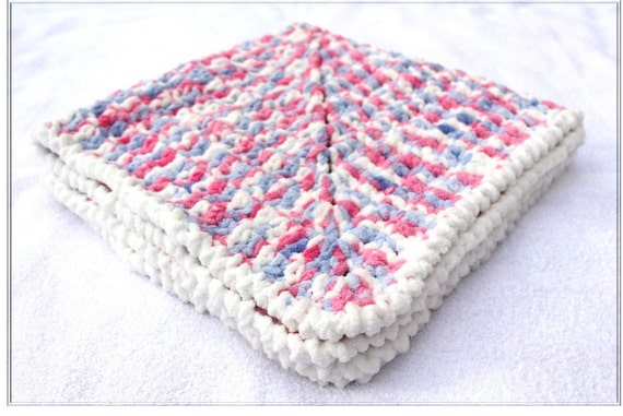 Pink Lavender Baby Blanket Crochet Baby by ...