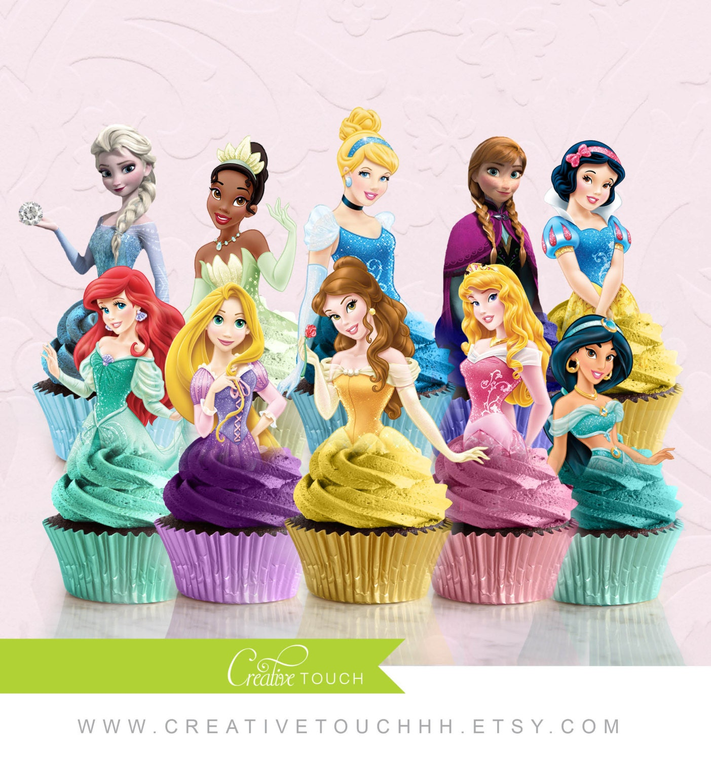 princess cake toppers princess ruffle 1st birthday cake birthday