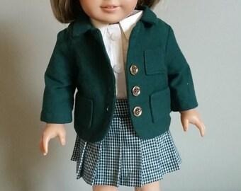 """American Girl doll school girl uniform. 3-piece set for 18"""" dolls."""