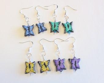 Butterfly Earrings - Polymer Clay Butterfly Earrings