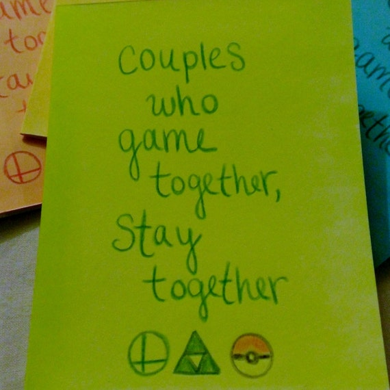 Items similar to couples who game together stay
