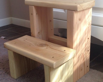 "Wood step stool 14"" tall"