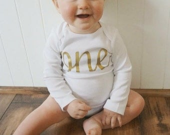 First Birthday Outfit, Birthday Onesie, 1st Birthday, Girls Birthday Shirt, First Birthday Shirt, Gold Birthday, Cake Smash, Birthday Tutu