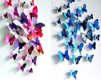 Stereoscopic wall sticker 3D simulation Butterflies Wall sticker ,3D butterflies wall decal- set of 12 various sizes, 9 styles can be chosen